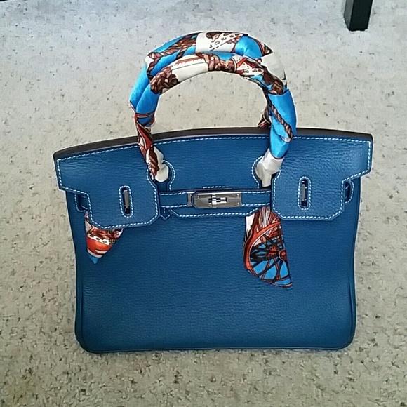 Ainifeel Handbags - Ainifeel Peacock Blue Handbag - 30cm bb6aaaebafff0